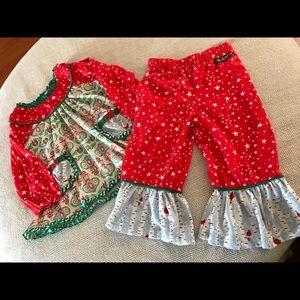 Matilda Jane sz.2 Holiday top pants set